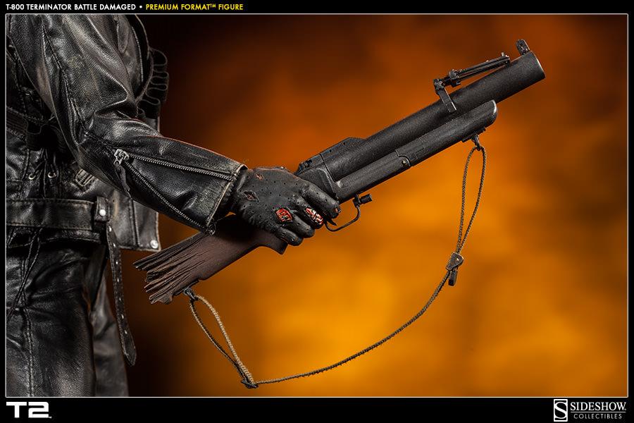Sideshow官图:21寸- 终结者T-800 战损版 - PF系列雕像 (300109) - 潇洒D鱼 -