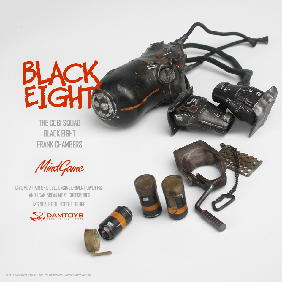 DAMTOYS 1/6 MindGame - The Gobi Squad - Black Eight - Frank Chambers (ZP001) 135355gfeit5i7m337zzst