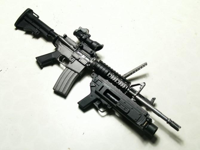 在线 武器 sas/按在阿富汗的SAS图片资料,组件选用了枪托缓冲套,KAC后备照...
